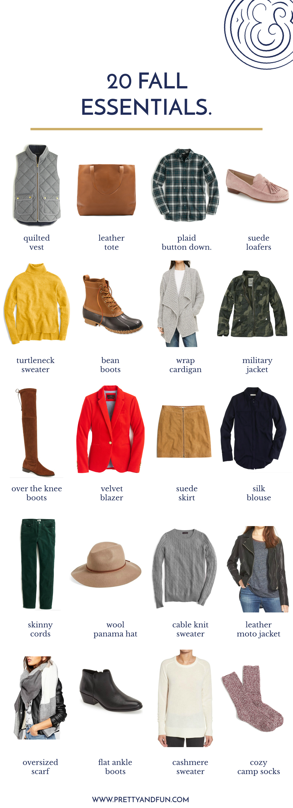 20 Fall Wardrobe Essentials You Need in Your Closet.