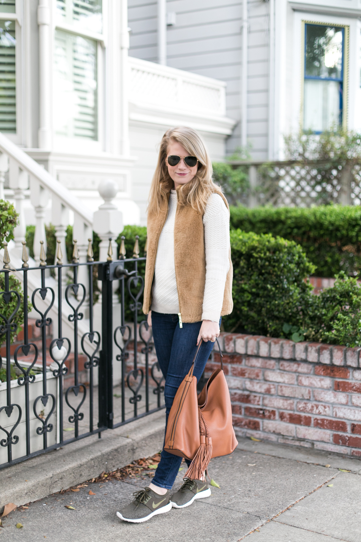 A Cozy Sweater & Vest Combo.