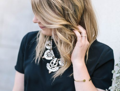 Easy Undone Curling Wand Waves.