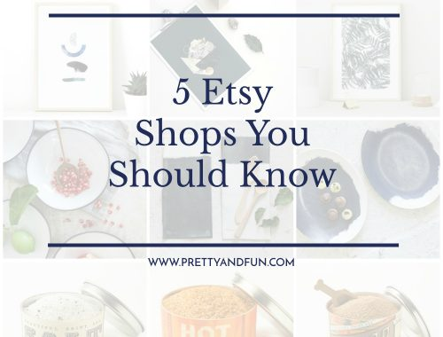 Etsy Shops You Should Know // January 2017.