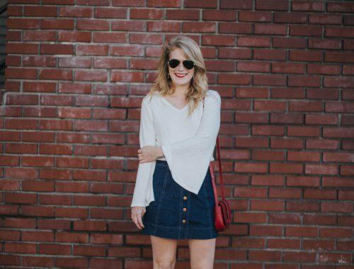The Denim Skirt Is Back.