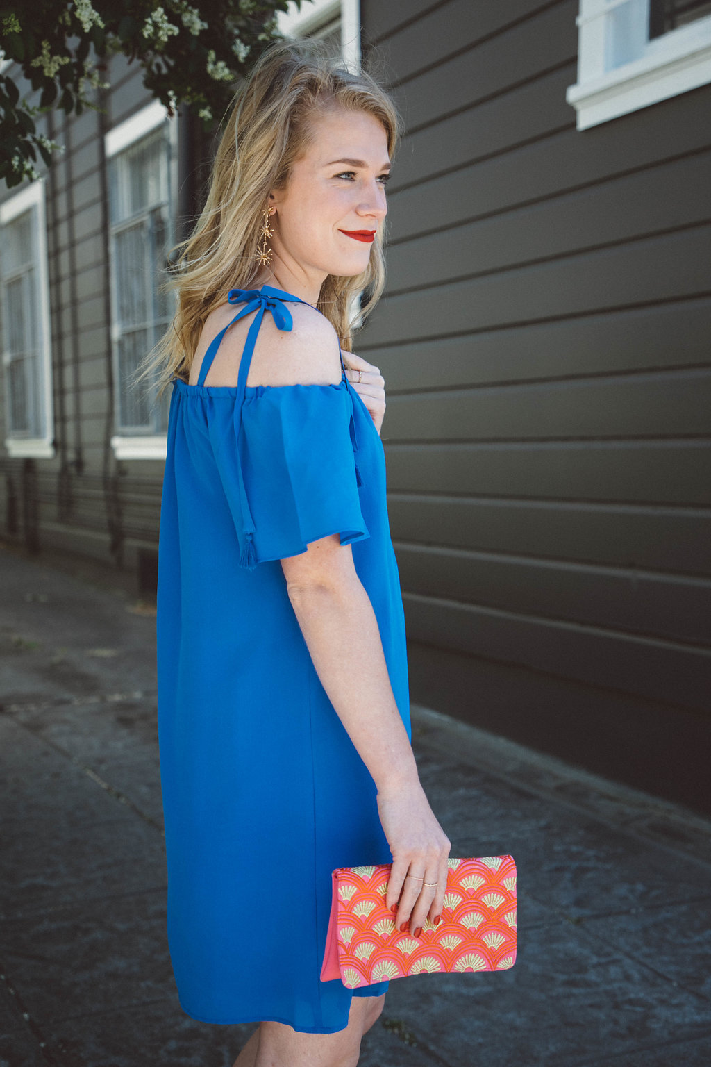 Blue Tassel Tie Dress.